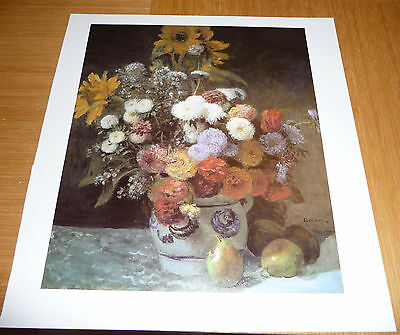 Renoir Small Poster Print - Flowers In A Vase