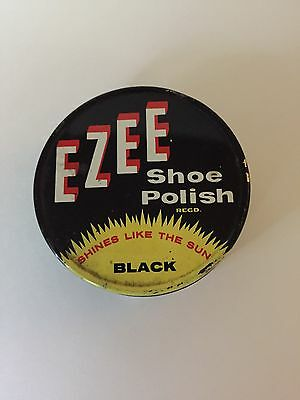 Vintage Ezee Shoe Polish Tin Australian Advertising