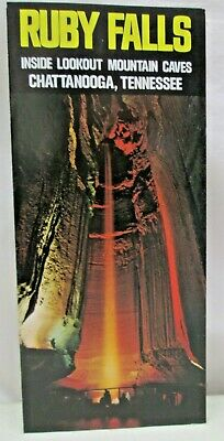 Vintage Brochure Ruby Falls Inside Lookout Mountain Caves Chattanooga Tennessee