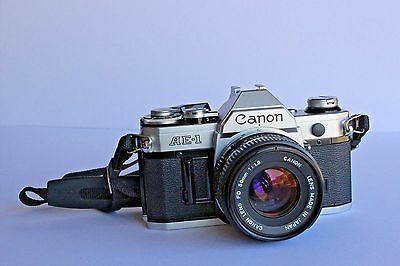 Canon AE-1 35mm Camera with 50mm f/1.8 Lens