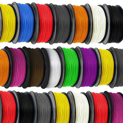 Premium 30M 3D Printer Filament 1.75mm ABS/PLA RepRap MarkerBot 7 Colours NEW!