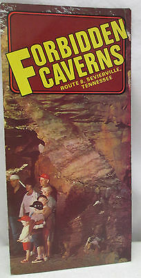 Vintage Brochure Forbidden Caverns Sevierville Tennessee Mountain Caves