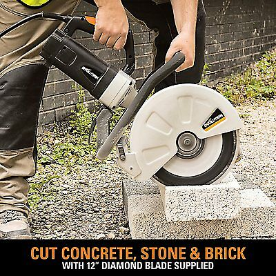 Concrete Stone Disc Cutter Cut Off Saws Tool Corded Circular 12 Inch Cutting Saw