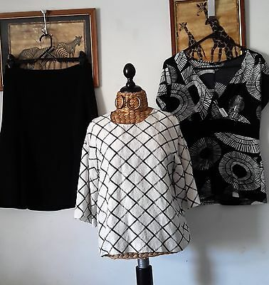 COUNTRY ROAD skirt and top, STAX (NZ) top - Sz 10