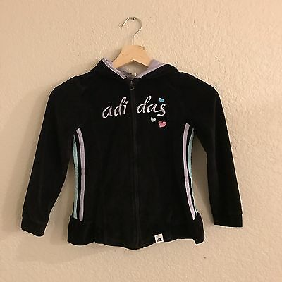 Adidas Kids Zip Up Hooded Sweater Size 6X