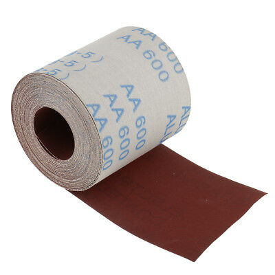 10m x 100mm Waterproof Emery Cloth Sandpaper Roll Abrasive Tool 600 Grit