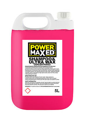 Power Maxed - Shampoo & Ultra Wax - Concentrate 5 ltr CSUW5000 Courier Post