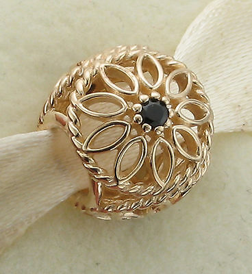 Authentic Pandora 14K solid gold delicate beauty charm rare retired genuine