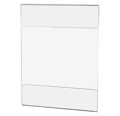 """Wall Mount Adhesive Acrylic Sign Holder for 8.5"""" x 11"""" or 11"""" x 8.5"""" Literature"""