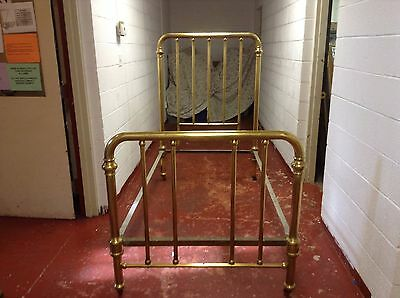 Antique Brass Bed With Head And Foot Board - Twin Size