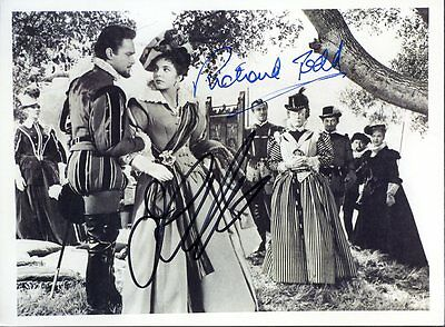 "JOAN COLLINS - RICHARD TODD - 7"" x 5"" Photo PERSONALLY SIGNED UNDEDICATED F#21"