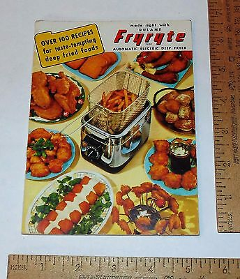 1950 - DULANE FRYRYTE DEEP FRYER - Instruction and Recipe BOOKLET