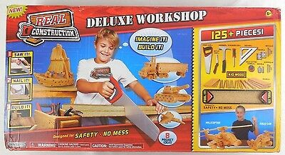 Jakks Pacfic Real Construction Deluxe Workshop, Werkbank mit Schaumstoff Holz