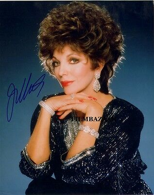 JOAN COLLINS - DYNASTY - Colour Photo PERSONALLY SIGNED - UNDEDICATED F#21
