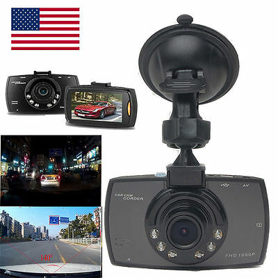 "1080P 2.4"" LCD Car Camera Full HD Dash Cam Crash DVR G-sensor Night Vision CL"