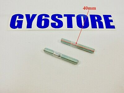 M6 x 40mm EXHAUST STUDS *2 PACK* FOR MOTORS WITH GY6 150cc OR QMB139 50cc MOTORS