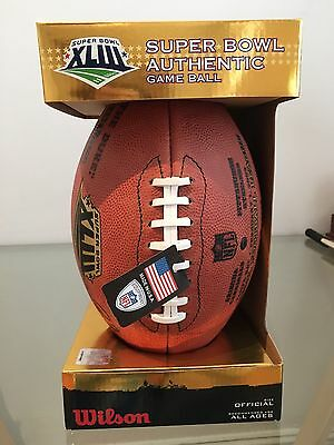 Superbowl XLIII Authentic Wilson Game Ball