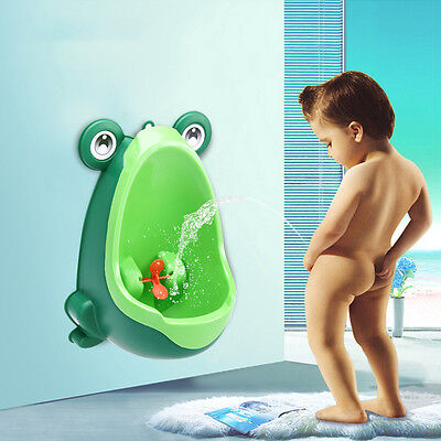 Frog-shaped Potty Toilet Training Kids Urinal Boys Baby Standing Pee Green