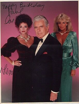 "JOAN COLLINS - DYNASTY -  PERSONALLY SIGNED By Alexis 11"" x 14"" Photo TO PAUL"