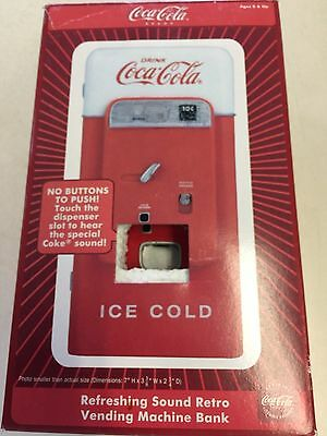 New! Collectible Coca Cola Die Cast Metal Retro Vending Machine Coin Bank