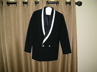 RAffinati Men's White Black Tuxedo Coat JAcket Prom Dinner  Jacket Size 34S