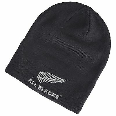 Adult All Blacks Rugby Beanie Black one size H176