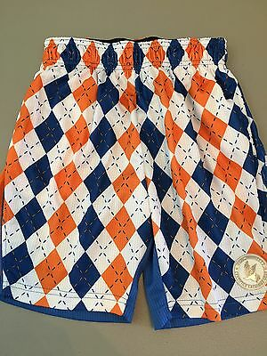 NWT Flow Society XXS Argyle Girls Boys Soccer Athletic Shorts Kids Blue