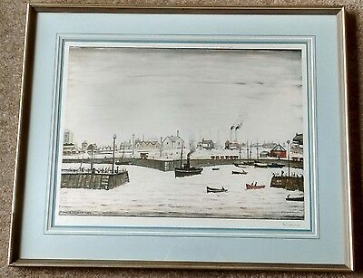 "L S Lowry signed limited edition print ""The Harbour"""
