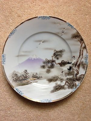 Early 20th century Japanese plate with Bonhams confirmation