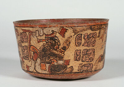 Ancient Mayan Pre-Columbian Vessel - Ulua Valley - Late Classic / 600 - 900 AD