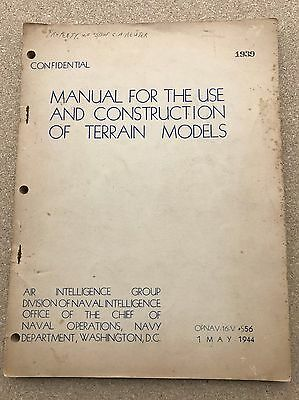 1942 Manual for the use and construction of terrain models - illustrated