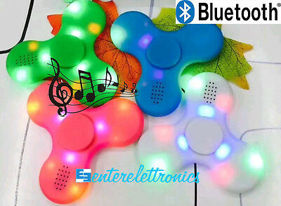Fidget Spinner Led Bluetooth Gioco Passatempo Rilassante Cuscinetto Antistress