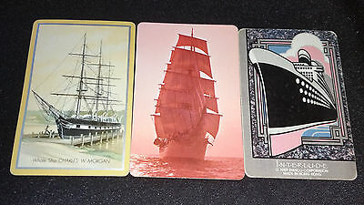 OLD SHIPS - Vintage Lot of BOATS Cards - 3 Single Swap Trading Playing Cards