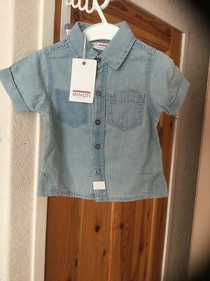 New with tags little boys washed Denim shirt age 6-12 months .