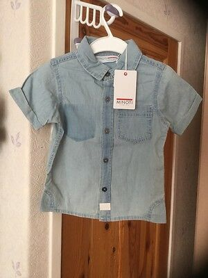 New with tags boys washed Denim shirt age 18-24 months from Minoti .