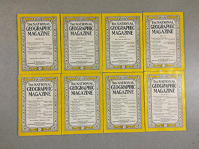 12 Issues of 1951 NATIONAL GEOGRAPHIC MAGAZINE Complete Year (January-December)