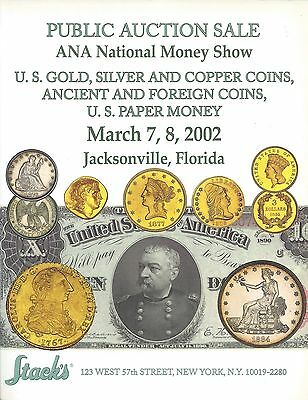 Stack's U.s. Gold Silver & Copper Ancient & Foreign Coins U.s. Paper Money 2002