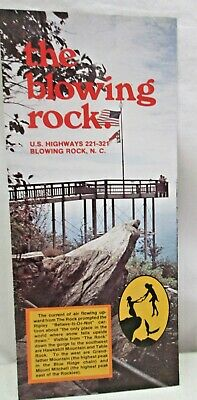 Vintage Brochure The Blowing Rock North Carolina Cliff Johns River Gorge