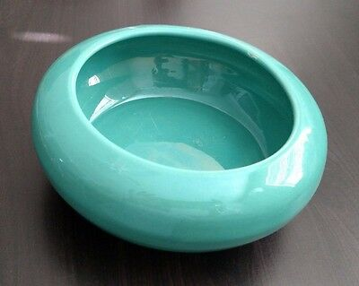 Bauer Pottery Turquoise/Jade Bulb Bowl (1940's-50's) Small Defect on Rim
