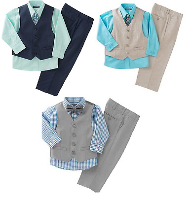 Kenneth Cole Reaction Boys' 4-piece Vest Set, MSRP $50