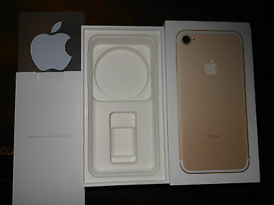 New Apple iPhone 7 Box 128GB  Gold BOX ONLY with Apple Stickers
