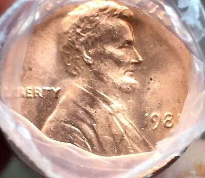 1981 P Obw Lincoln Cent Roll Shrink Wrap Bu Brilliant Uncirculated Penny Roll