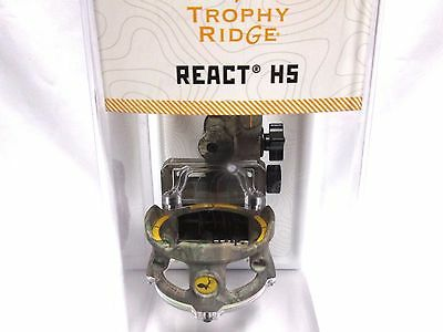 Trophy Ridge Archery React H5 5 Pin Sight RIGHT HAND xtra .019 Pins With Light