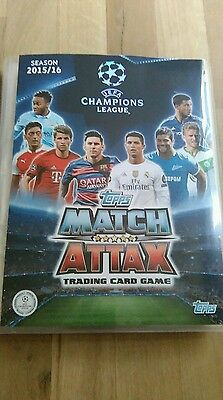 match attax 2015/16 champions league binder with over 440 cards inside