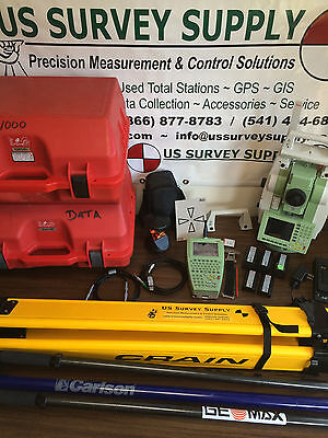 """TCRP1201+ Leica 1"""" 1000m Reflectorless Robotic Total Station System TPS1200 Plus"""