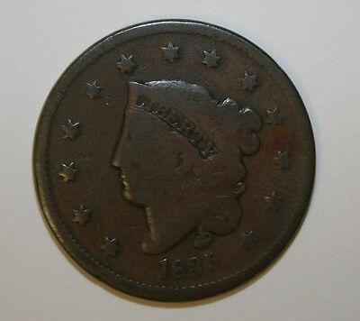 "1835 Sm ""8"" Sm Stars N-13 Large Cent    Ux03"