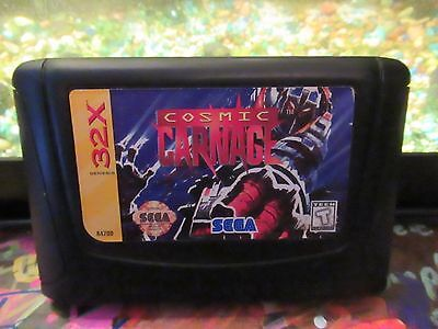 Cosmic Carnage (Sega 32X, 1994)Tested/Cleaned CART ONLY