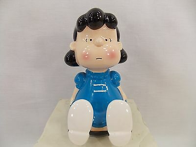 Snoopy Peanuts Charlie Brown Lucy Vintage Schmid Ceramic Figurine Music Box 1952