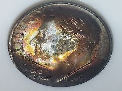1951 S 10C MS-67 NGC Roosevelt Silver Dime MONSTER TONED!