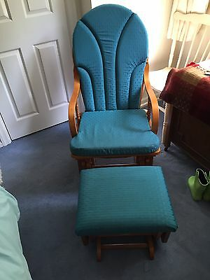 Slider / Rocking Nursery Chair With Sliding Foot Stool